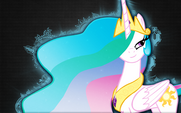 Princess Celestia wallpaper by artist-arkkukakku112