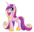 Princess Cadence wearing a necklace and shoes.png