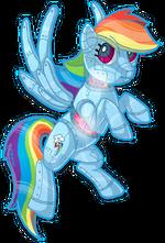 Rainbow Dash robot by xxmoonwish