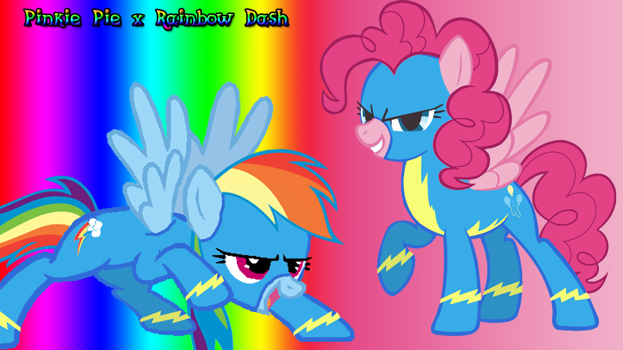 Image - Pinkie Pie x Rainbow Dash Wallpaper.png   My ...