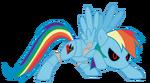 Mecha Rainbow Dash aka Metal Dash by frankleonhart