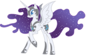 Nightmare Moon recolor with Rarity