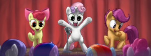 Cutscene 17.5 Cutie Mark Crusaders comedians! by Rautakoura