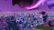 Twilight Sparkle having a view wallpaper by artist-gigasparkle
