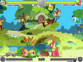 Fluttershy vs Applejack Fluttershy's cottage Fighting is Magic.jpg