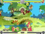Fluttershy vs Applejack Fluttershy's cottage Fighting is Magic