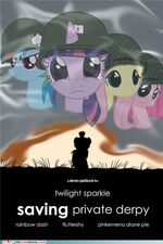 Captain Twilight saving private Derpy