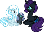 Snowdrop, Snowflake and Nyx by RagingPeppers