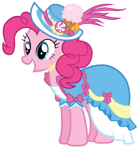 File:Pinkie Pie in a coronation dress with a hat.png