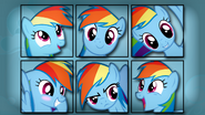 Rainbow Dash vector faces wallpaper by artist-overmare