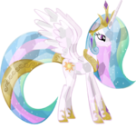 Crystallized Princess Celestia by artist-hampshireukbrony