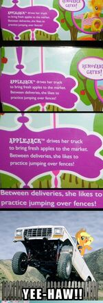 My Little Brony meme comic - Applejack is best truck driver