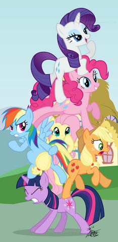 File:Leaning tower of ponies by tehjadeh-d5jw91q.png