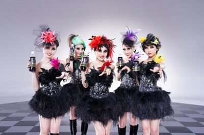 Momoiro Clover Z as Pepsi Black representatives