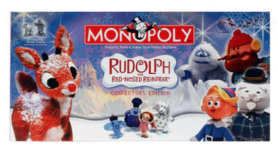 Monopoly Rudolph Reindeer box