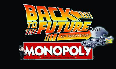 Back to the Future Trilogy '30th Anniversary Edition' Monopoly Logo