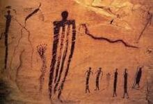 Ancient Germanic cave drawing