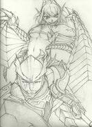 Dragoon and wyvern girl by warrior of winds-d5lz8u3