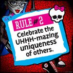 Rules of Monster High - rule 02