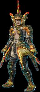 MHO-Plesioth Armor (Blademaster) (Female) Render 001