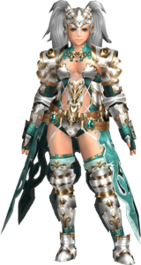 FrontierGen-Amista Armor (Female) (Both) (Front) Render 002
