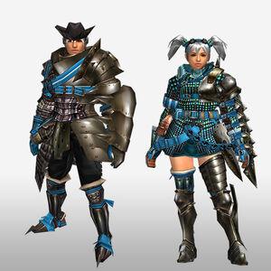 FrontierGen-Velociprey G Armor (Gunner) (Front) Render