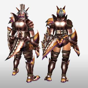 FrontierGen-Paria Armor (Gunner) (Back) Render