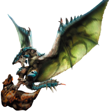 MH4-Azure Rathalos and Slagtoth Render 001