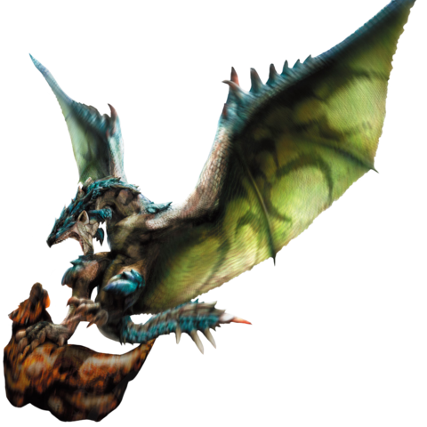 File:MH4-Azure Rathalos and Slagtoth Render 001.png