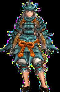 FrontierGen-Kutkusu G Armor (Female) (Blademaster) Render 001