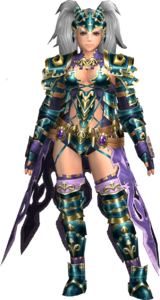 FrontierGen-Amista Armor (Female) (Both) (Front) Render 003