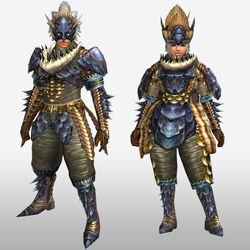 FrontierGen-Lava Armor (Blademaster) (Front) Render