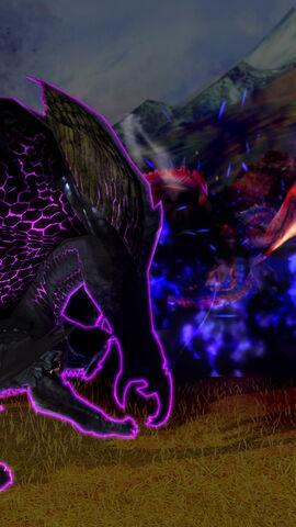 File:MHSP-Frenzied Gore Magala and Rathalos Screenshot 002.jpg