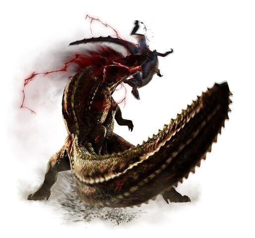 File:MH4-Savage Deviljho and Great Jaggi Render 001.jpg