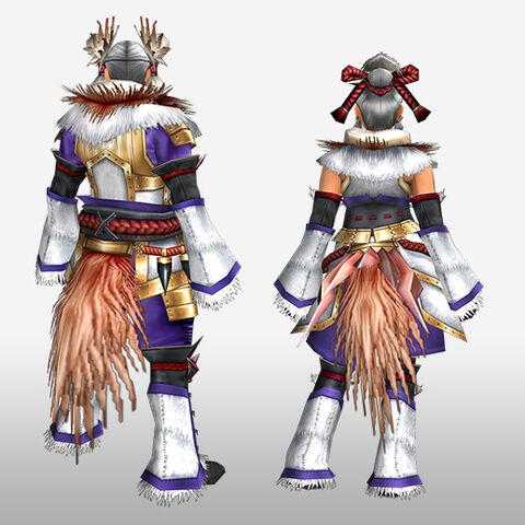 File:FrontierGen-Kagura G Armor (Blademaster) (Back) Render.jpg