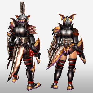 FrontierGen-Paria G Armor (Gunner) (Back) Render