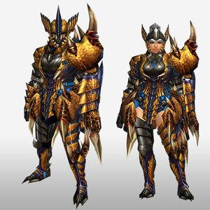 FrontierGen-Tigrex G Armor (Gunner) (Front) Render
