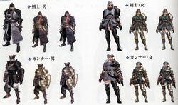Giaprey and velociprey armor sets