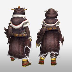 FrontierGen-Pokara G Armor (Gunner) (Back) Render
