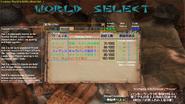 MHFO World Selection Screen Breakdown