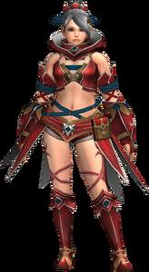FrontierGen-Gania Armor (Female) (Both) (Front) Render 001