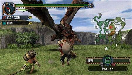 MHFU-Rathalos Screenshot 001
