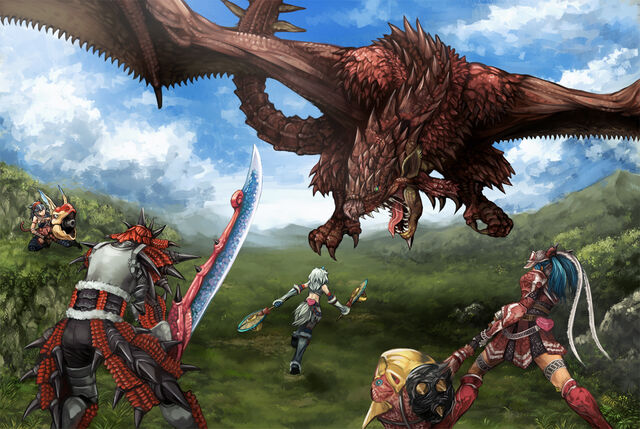 File:Konachan.com - 65976 armor daimyo hermitaur dragon kirin monster hunter naruga kuruga rathalos shibairo sword tail weapon wings.jpg