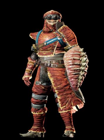File:MHO-Red Khezu Armor (Gunner) (Male) Render 001.png