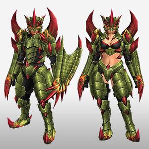 FrontierGen-Reiji Armor (Both) (Front) Render