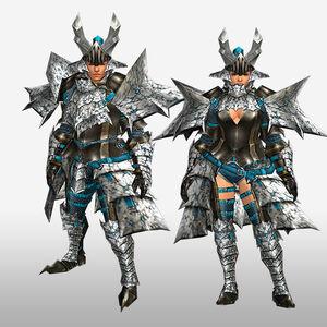 FrontierGen-Basaru G Armor (Blademaster) (Front) Render