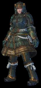 MHO-Shen Gaoren Armor (Blademaster) (Female) Render 001