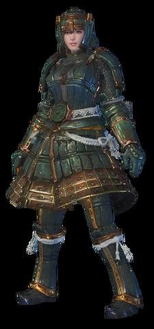File:MHO-Shen Gaoren Armor (Blademaster) (Female) Render 001.png