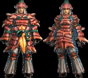 MH4U-Kut-Ku Armor (Blademaster) Render 001
