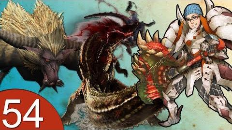 Monster Hunter 4 Nubcakes 54 - Deviljho & Rajang English commentary online gameplay